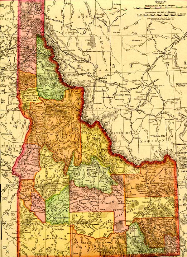 Kootenai Co. GenWeb maps